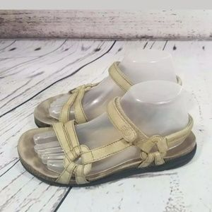 TEVA VENTURA WALKING SANDALS TAN VELCRO 8